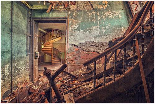 Una mansión europea abandonada