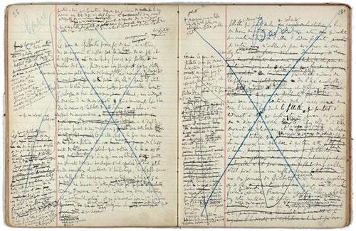 Manuscrito de El tiempo perdido