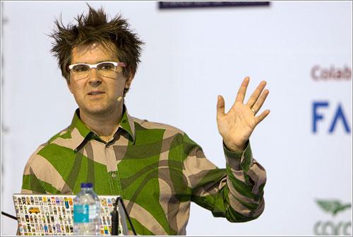 Mark durante su charla