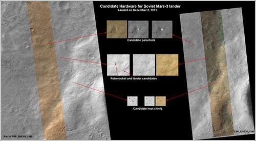 ¿Mars 3 vista por la HiRISE?