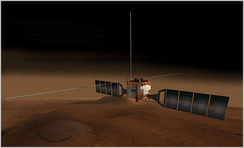 Impresión artística de la Mars Express
