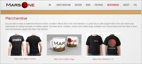 Merchandising de Mars One