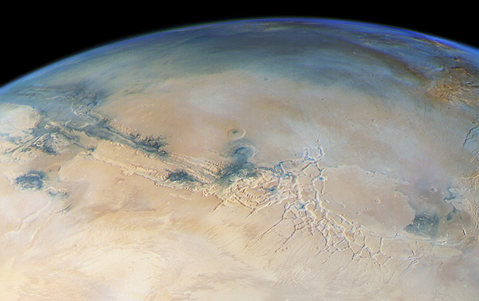 Mars from horizon to horizon