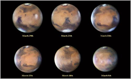 Marte en marzo de 2014 por Efraín Morales Rivera