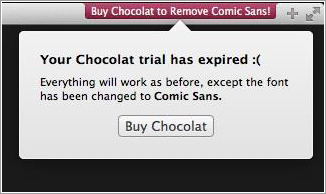 Chocolat y Comic Sans