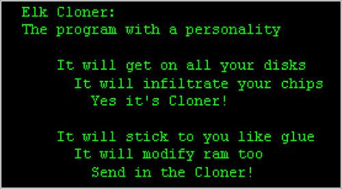 El mensajito de Elk Cloner