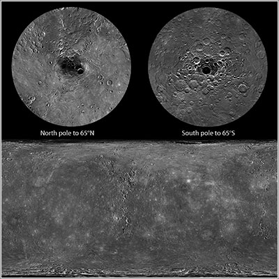 Toda la superficie de Mercurio