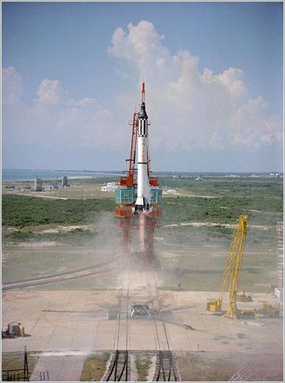 Lanzamiento del Mercury Redstone 3 - NASA