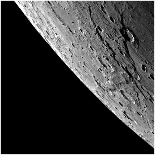 Cráteres en Mercurio