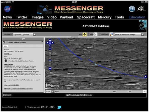 App de la Messenger en el iPad