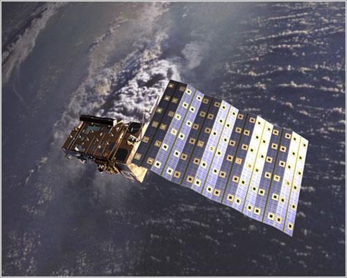Impresión artística de un satélite MetOp en órbita - ESA/AOES Medialab
