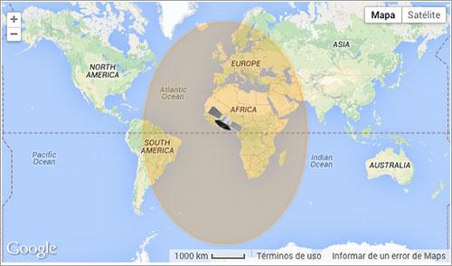 Cobertura del Meteosat-10