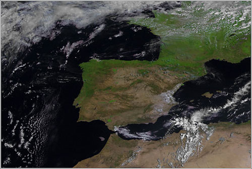 España vista por el Meteosat 10