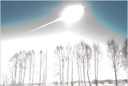 Metorito de Cheliábinsk por Marat Ametvaleev