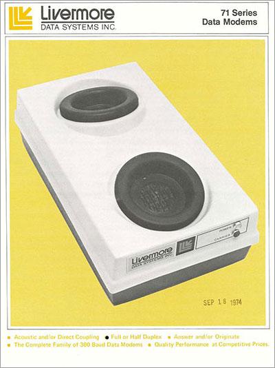 71 series data modems, 1974
