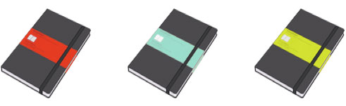 Iconos Moleskine por Max Brown