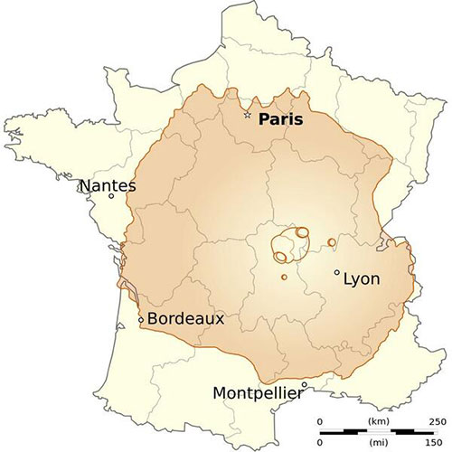 El monte Olimpo y Francia