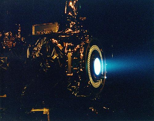 Motor de iones en pruebas