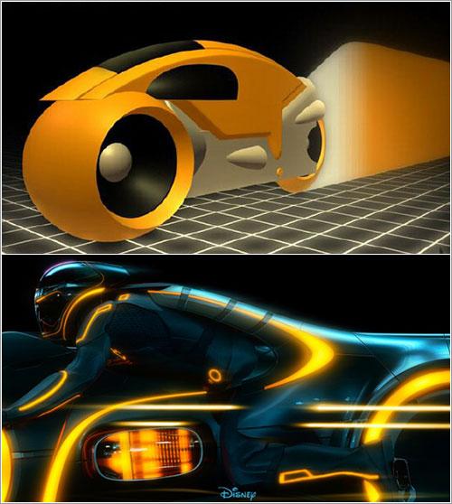 Motos de Tron y Tron: Legacy © Disney
