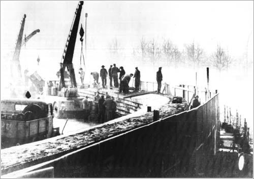 El muro de Berlín en 1961