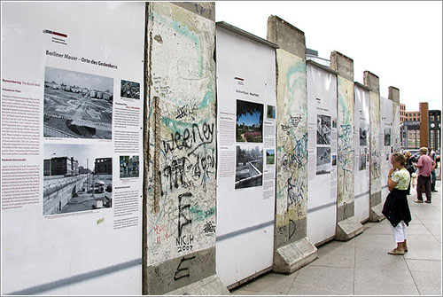 Información sobre el muro en Potsdamer Platz
