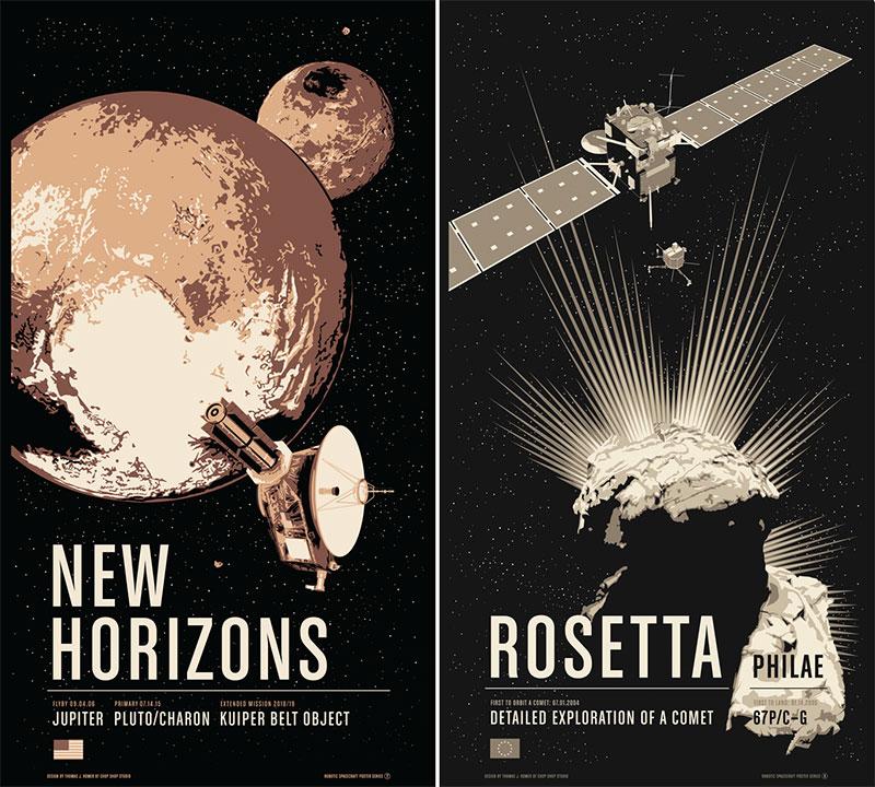 New Horizons y Rosetta