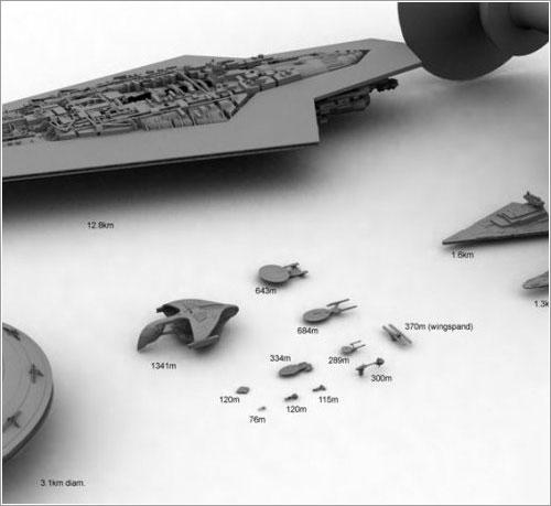 Naves de Star Trek y Star Wars