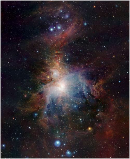 Orión en una nueva luz - ESO/J. Emerson/VISTA. Acknowledgment: Cambridge Astronomical Survey Unit
