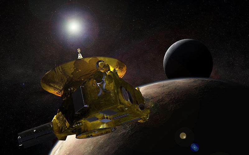 La New Horizons pasando Plutón