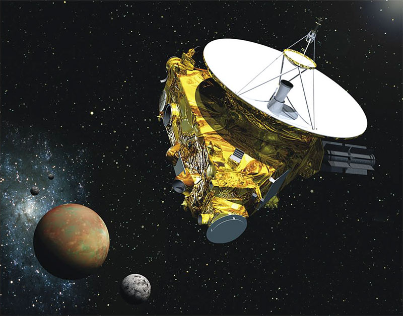 La New Horizons llegando a Plutón