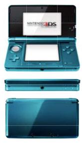 Nintendo 3DS en azul aqua