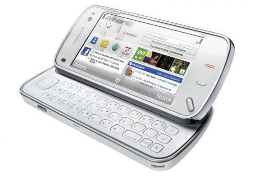 Nokia N97 con teclado abierto