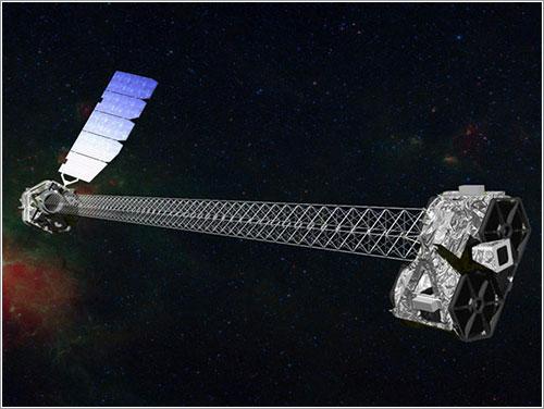 Impresión artística del NuSTAR en órbita - NASA/JPL-Caltech