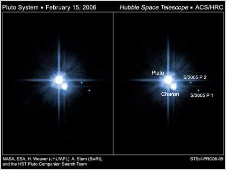 Plutón y sus tres lunas