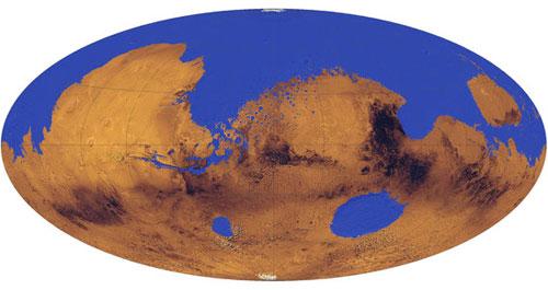 El océano de Marte hace 3.500 millones de años - U. de Colorado