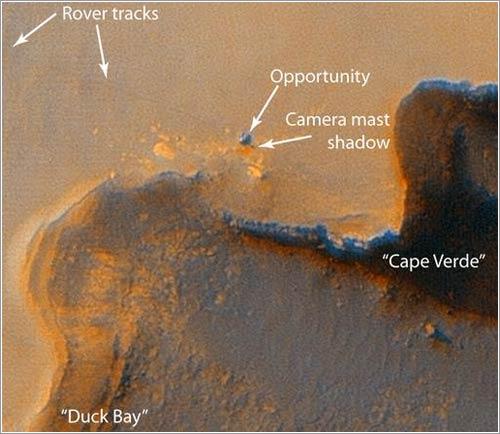 Opportunity en al cráter Victoria