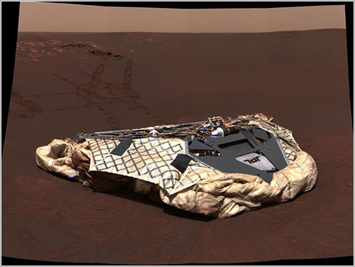 El aterrizador de Opportunity - NASA/JPL/Cornell