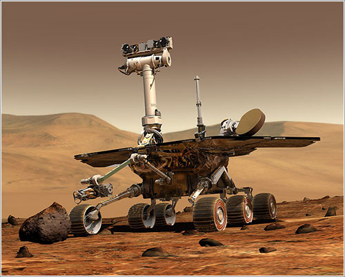 Opportunity en Marte - Image by Maas Digital LLC for Cornell University and NASA/JPL