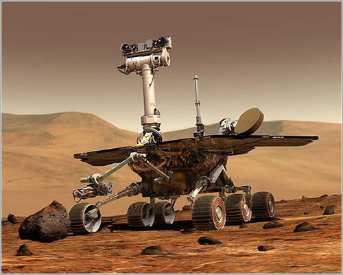 Opportunity en Marte - Image by Maas Digital LLC for Cornell University and NASA/JPL
