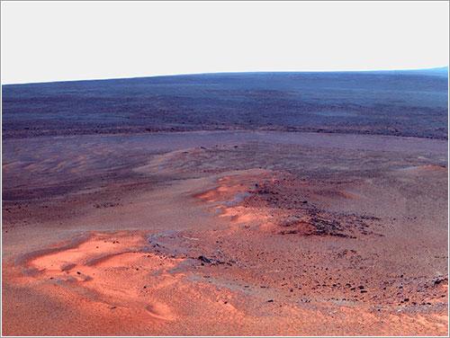 Foto que conmemora los ocho años de Opportunity en Marte
