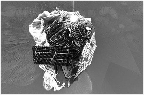 Primeros momentos de Opportunity en Marte