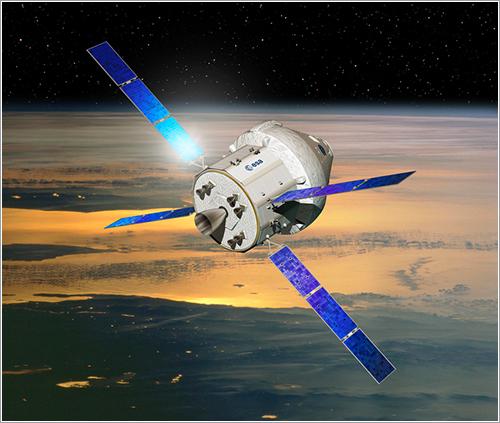 Cápsula Orion con módulo de servicio de la ESA