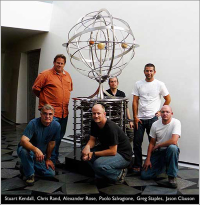 El equipo creador del Orrery
