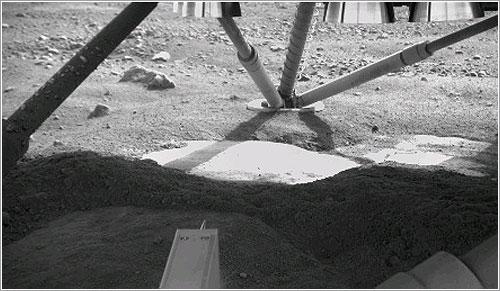 Bajo la Phoenix - NASA/JPL-Caltech//University of Arizona/Max Planck Institute