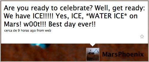 ¡Encontramos hielo de agua!