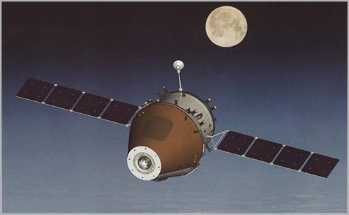 Impresión artística de la PTK-NP en el espacio