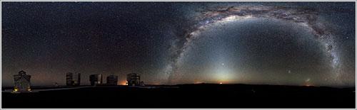 Panorama de 360 grados del cielo del hemisferio sur - ESO/H. H. Heyer