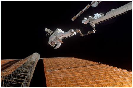 Scott Parazynski en acción / NASA