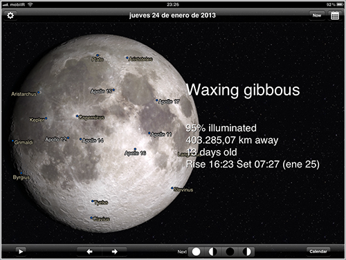 Phases of the Moon en el iPad
