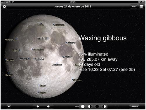 Phases of the Moon en el iPad